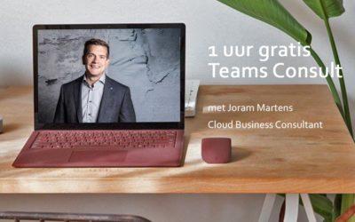 Gratis online Microsoft Teams consult: stel jouw vragen