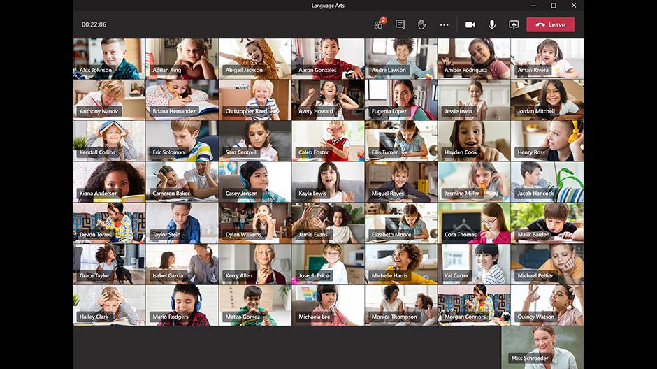 49 gezichten in je Microsoft Teams gesprek